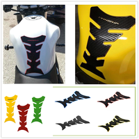 3D Motorcycle Fuel Oil Tank Pad Decal Protector rubber Sticker For HONDA CBR250R VFR 1200 F ST 1300 Black SpiRit NC750 S X