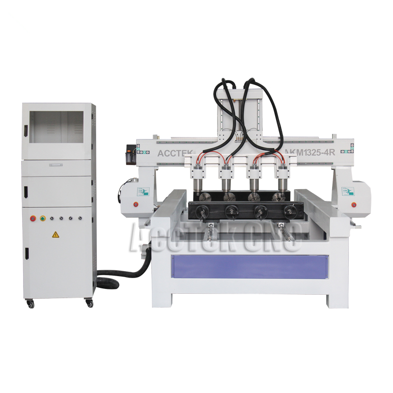 Cheap cylindrical engraving machine 3 axis cylinder cnc router 1325 with Rotary for solid wood/plastic/foam