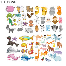 ZOTOONE Iron On Patches Letter Set Clothing Diy Heat Transfers For Clothes Animal Badges Washable Appliques Print T-shirt