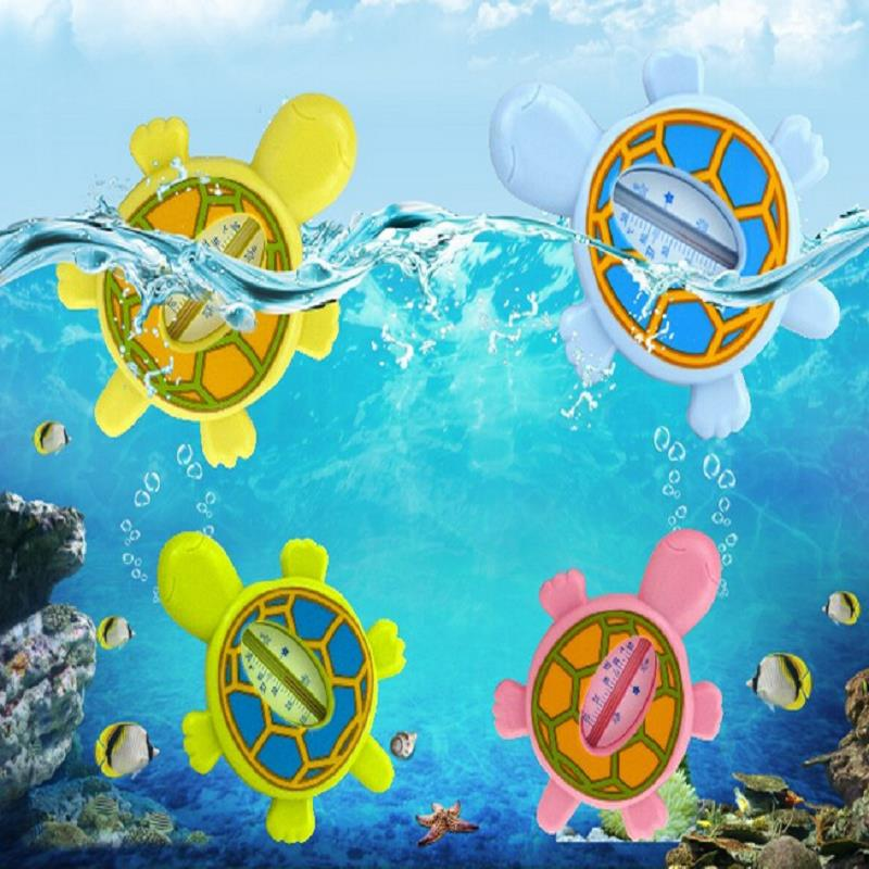 1Pcs Bath Water Thermometer For Baby Newborns A Child Bathing Scale Cartoon Turtle Shower Thermometer Random Colors
