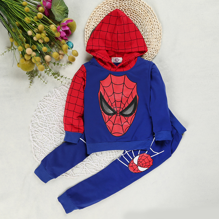 Boys Spiderman Clothing Sets Sport Suit For Boys Spring Cotton Spider Man Cosplay Costumes Kids Suits Children Clothing For 1-6Y 3