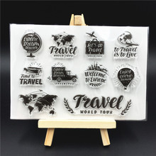 Travel Transparent Clear Silicone Stamp/Seal for DIY scrapbooking/photo album Decorative clear stamp sheets A483