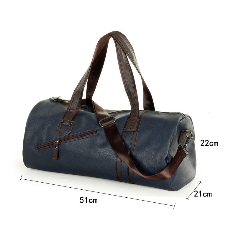 Aosbos PU Leather Gym Bag Men Sports Training Fitness Bags Durable Outdoor Traveling Shoulder Storage Handbags Duffel Tote In From