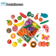 Wooden Kitchen Toys Set Cut Vegetables Toys for Children Simulation Kitchen Montessori Educational Early Childhood