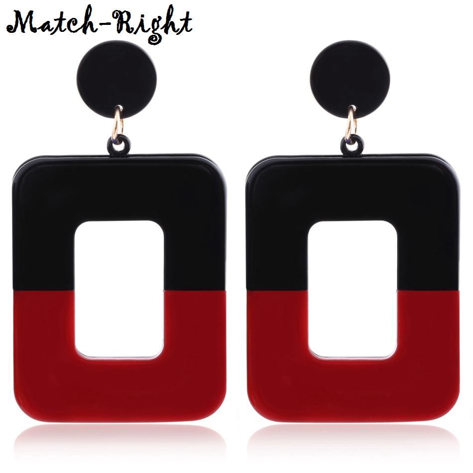 Women's Color Block Earrings Pendants For Women Long Dangle Drop Statement Earring With  New Fashion Jewelry For Gifts SP394