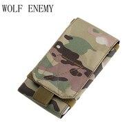 Bolso de camuflaje militar para hombres bolsas de teléfono táctico Camo mochila impermeable Molle bolsa deporte cintura cinturón teléfono móvil fundas de caza|bag sport|for mensport bag -