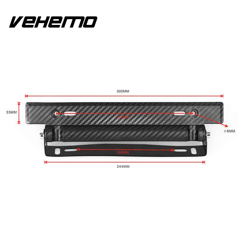 Vehemo Auto Fahrzeug Nummernschild Rahmen Einstellbare Halter ...