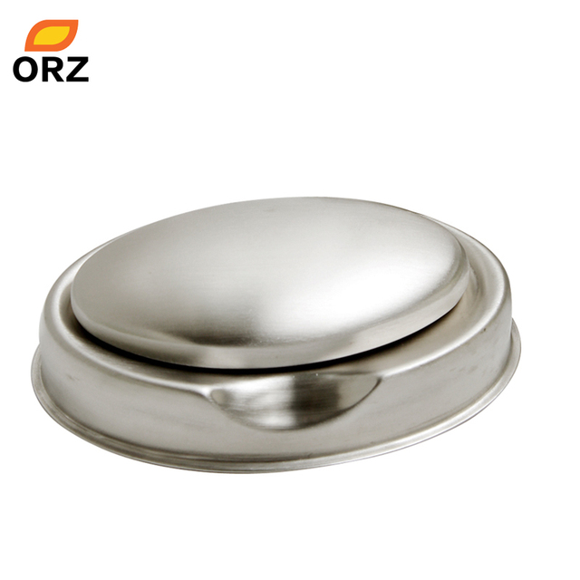 ORZ Stainless Steel Soap Steel Soap Dishes Oval Shape Deodorize Smell from Hands Retail Magic Eliminating Odor Kitchen Bar