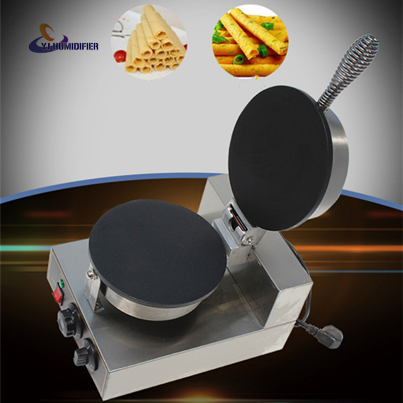 Electric single-head roll machine Flat pizza machine Commercial egg roll machine Thickening mold Egg roll machine Baking pizza bread skin bread roll skin spring roll machine making machine with one mould