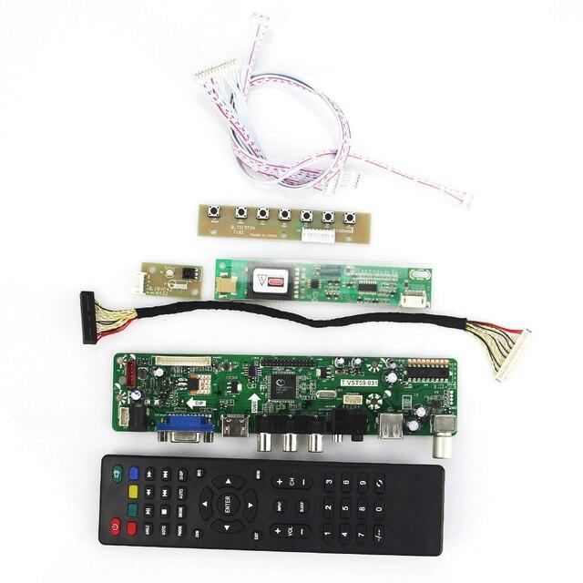 T. VST59.03 LCD/LED Placa de Driver de Controlador Para B154EW08 LTN154X3 (TV + HDMI + VGA + CVBS + USB) Reutilizar Laptop LVDS 1280x800