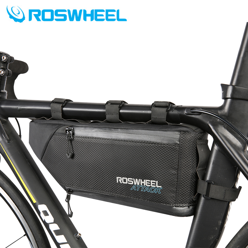 ROSWHEEL Bag nouveau 4L capacité 100% cadre de vélo étanche avant tube inférieur paquet sac de vélo accessoires de montagne pour vélo ce