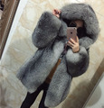 Woman's fur coat Fox fur coat Hooded Natural color Customized
