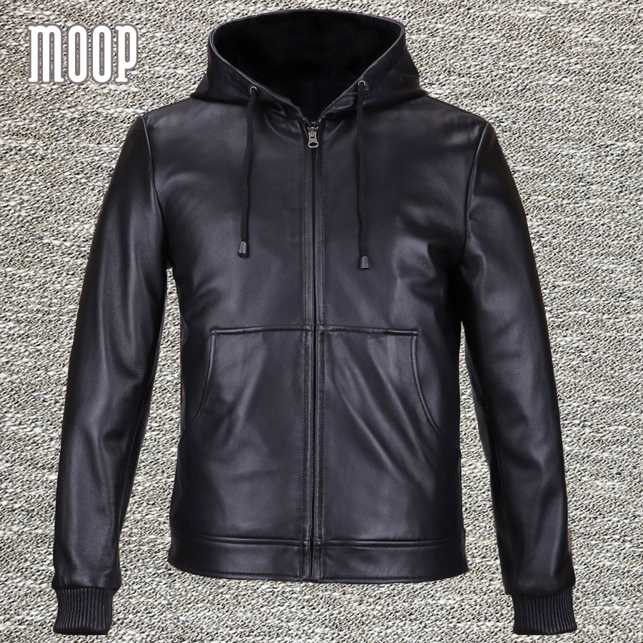 black genuine leather jackets jackets coats men heavyweight lambskin hooded hooded motorcycle. Black Bedroom Furniture Sets. Home Design Ideas