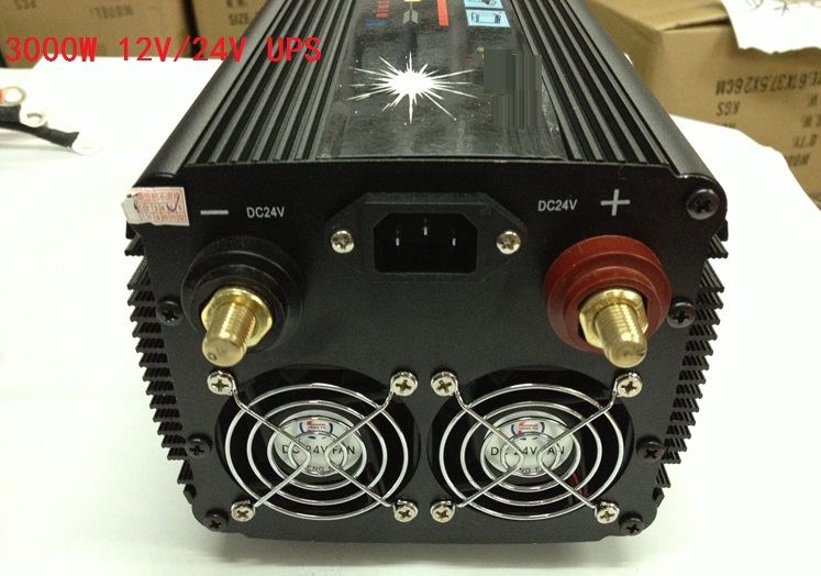 modified wave Power Inverter 3000W dc24v to ac220v+Charger & UPS,Quiet and Fast Charge 3000w dc24v to ac220v modified wave power inverter charger
