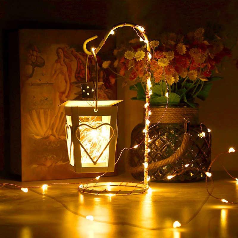 Łańcuchy świetlne LED 4.5V bateria 10M 5M 2M Garland srebrny drut miedziany 5V lampki usb luces led decoracion Wedding Home Party