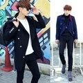 2016 новых зимнее пальто Метросексуал Корейской выращивания в долгосрочной шерстяные пальто человек F46 P125