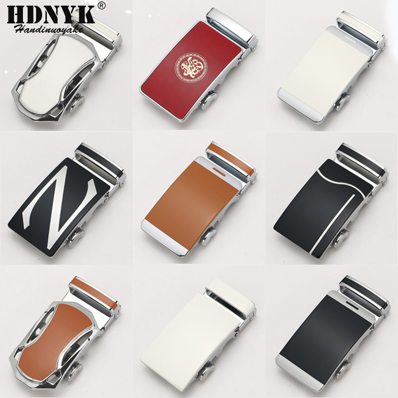 Men Automatic Buckle Heads Many Style For Reference Luxury Brand Designer Automatic Buckle High Quality DIY Buckles 3.5cm Strap