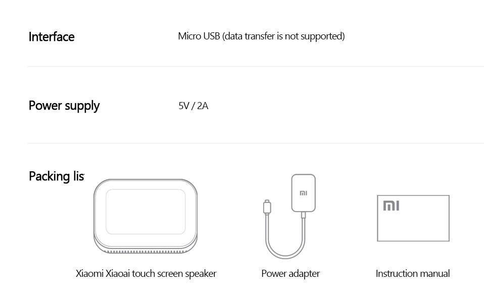 Original Xiaomi AI Touch Screen Bluetooth 5.0 Speaker Digital Display Alarm Clock WiFi Smart Connection Speaker Mi speaker (1)