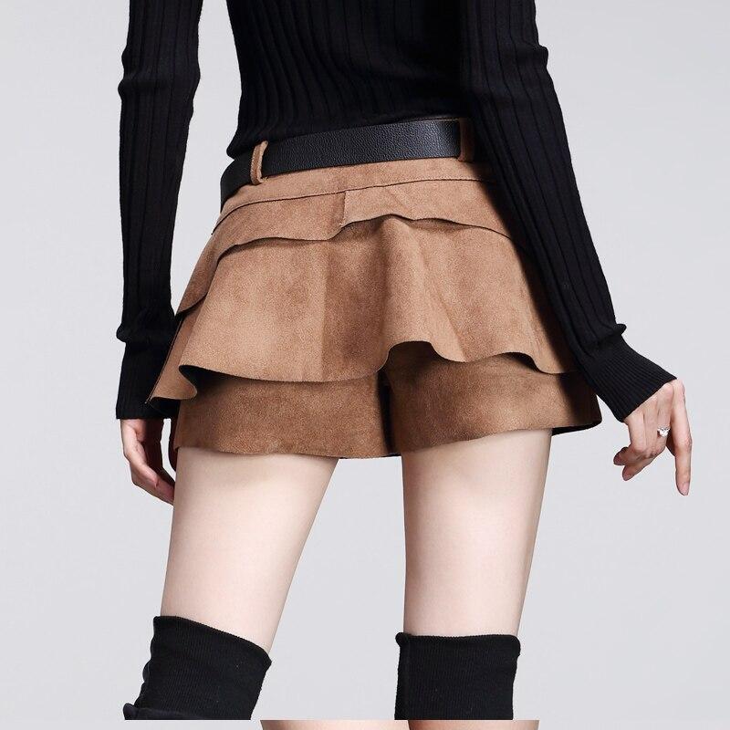 2018 mini nabíraná sukně dámská podzimní a zimní móda plná barva Slovo štíhlá sukně ženské oblečení