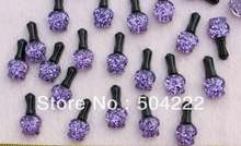 200 шт Симпатичные Блестящие Бутылочки для лака ногтей кабошон