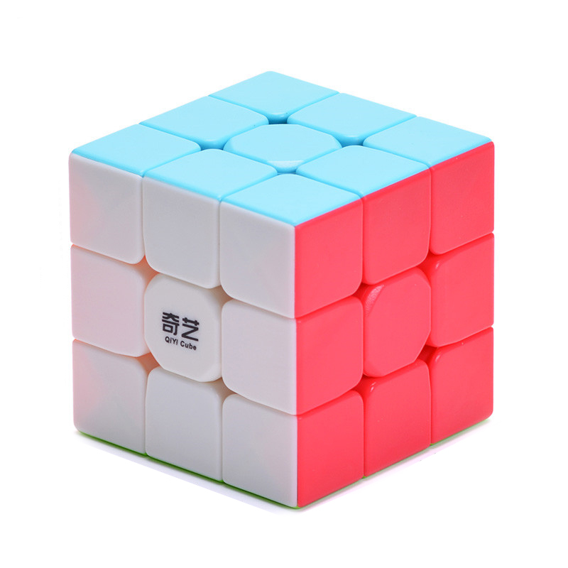 QiYi Warrior W 3x3x3 Profissional Magic Cube Competition Speed Puzzle Cubes Toys For Children Kids cube Game-specific 6 Colors image