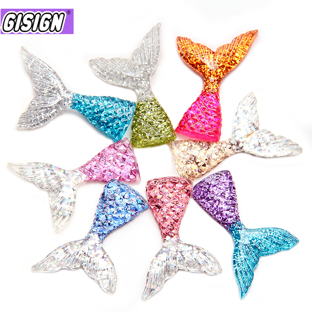 Mermaid Tail Supplements Charms For Slime DIY Polymer Filler Addition Slime Accessories Toys Lizun Modeling Clay Kit For Child