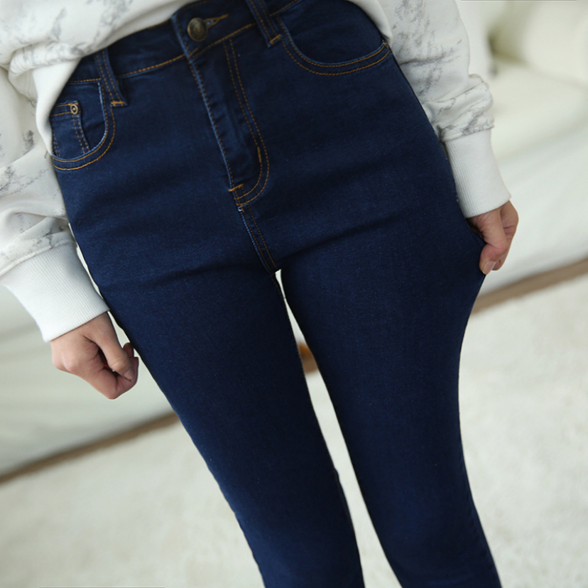 Black feet pants new female pencil pants wet elastic cultivate one s morality show thin women