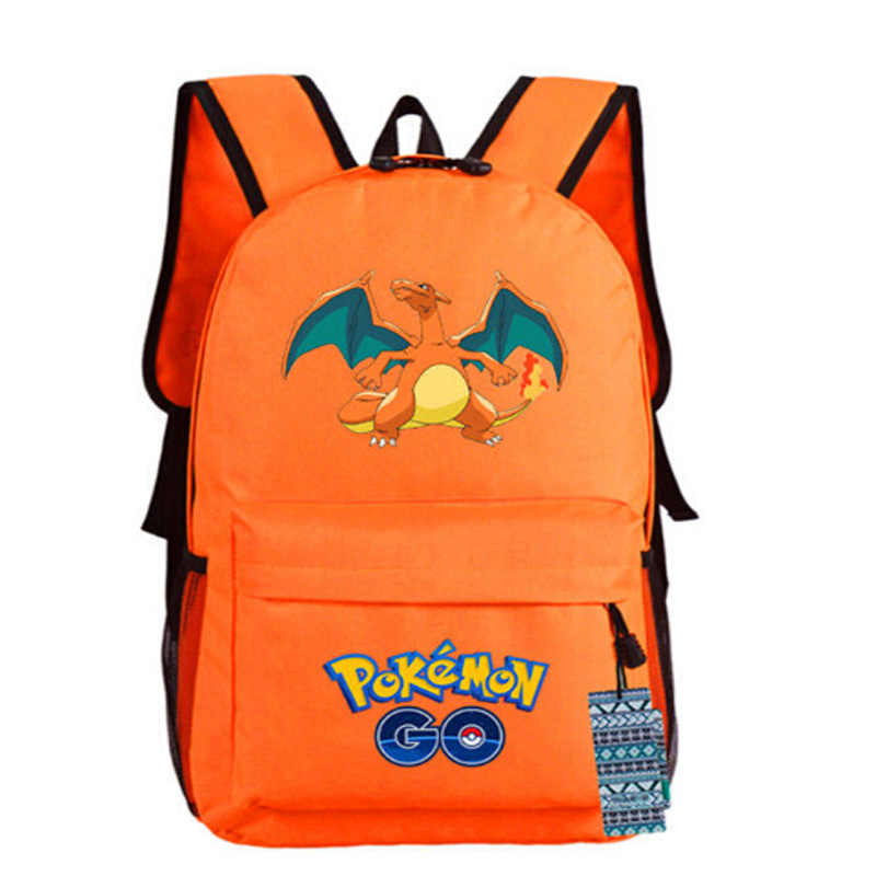 Go Backpack Pikachu Marshtomp Eevee Snorlax Charizard School Play Bag