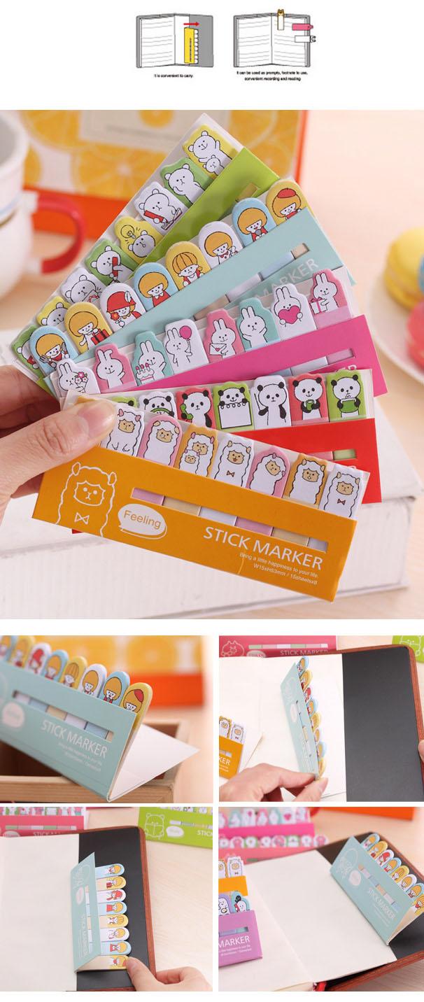 1 х животных для девочек каваи заметок пост-это блокнот школьные принадлежности планировщик наклейки бумаги закладки корейский канцелярские