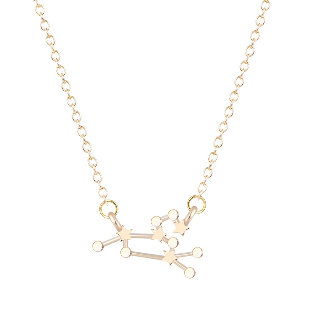 Qiming Fashion Jewelry Zodiac Sign Astrology Necklace Constellation