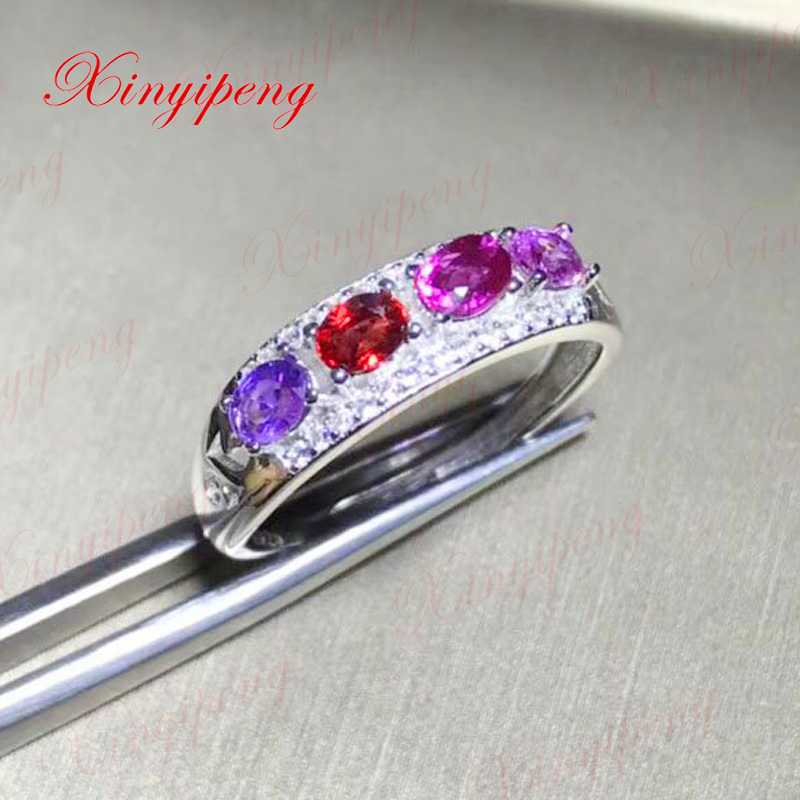 Xin yi peng 925 silver natural color sapphire ring, the woman ring, anniversary gift. браслет 925 3m yi skub012