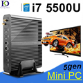 Intel core i7 kingde 5500u nuc barebone pc hd graphics5500 fanless mini pc, 2 * hdmi, cartão sd, 4 K HTPC, mini-itx micro pc, windows 10
