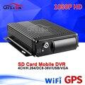 Двойной SD Wifi + Gps AHD автомобильный Мобильный Dvr в реальном времени Survelliance Gps трекер Велоспорт запись онлайн 4CH 1080P Mdvr Бесплатная доставка
