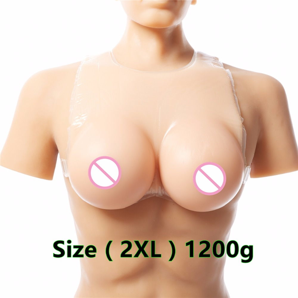 1200g DD Cup Strap Breast Forms Fake Boobs Silicone Crossdresser Transgender Enhancer Implant Full Waterdrop Boobs Cross 1200g dd cup boobs for drag shemale transgender prosthetic breasts cups for dresses silicone fake breast