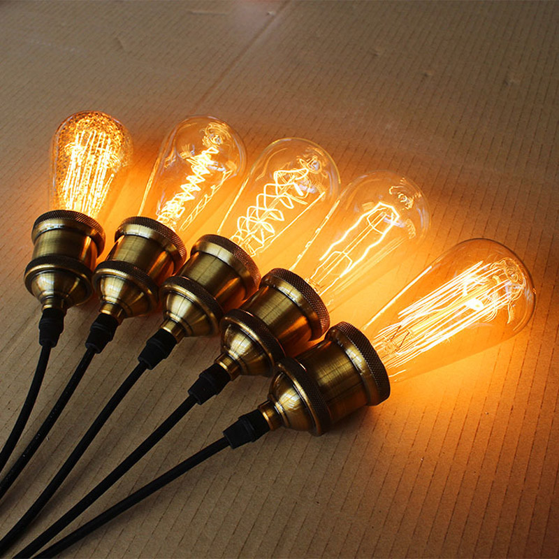 vintage christmas tree edison bulb e27 220v incandescent bulbs 40w st64 filament retro edison light for pendant lamp coffee shop in incandescent bulbs from