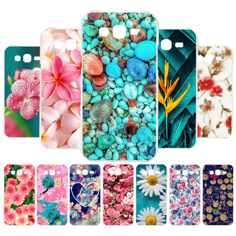3D DIY Soft Silicone Case For Samsung Galaxy Grand 2 Case Coque For Samsung G7102 G7105 G7106 Cover Painted Case Housing Fundas image
