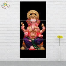 Wall Art HD Prints Canvas Painting Modular Picture And Poster Elephant Lord God Decoration Home 3 PIECES