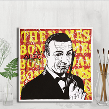 Bond Monopolyingly Graffiti Canvas Painting POP Wall Art Street Poster Print HD Picture for Living Room Home Decor Artwork