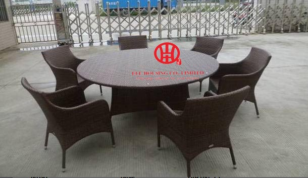 outdoor furniture rattan round dining table and chair set,Luxury Furniture Living Room And Dining Room Set