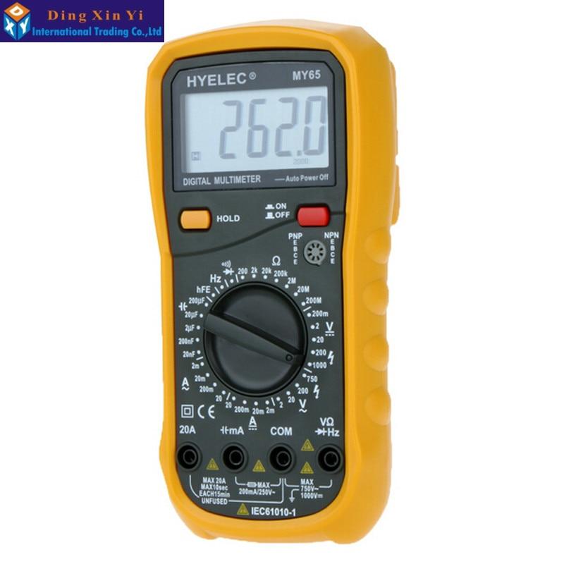 ФОТО Professional digital multimeter AC/DC Voltage Current Resistance Capacitance Tester Multimetro Ammeter Multitester MY65