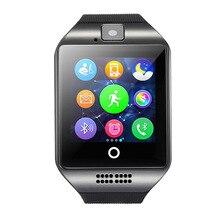 Smart watch q18 bluetooth uhr mit kamera facebookes twitter smartwatch unterstützung sim tf karte für apple ios android-handy