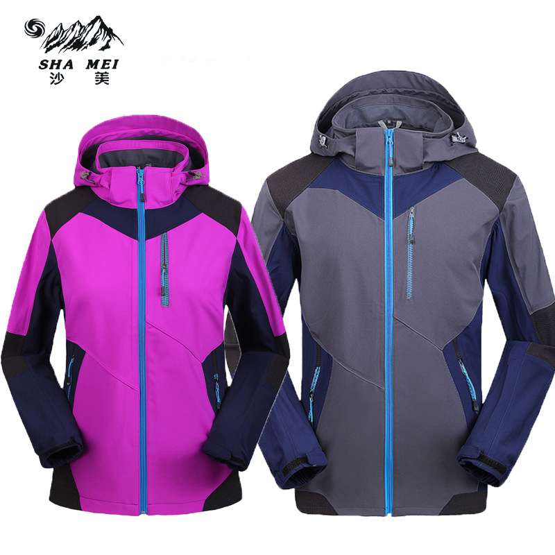 Men Women jacket jackets new hiking outdoor sport camping softshell jacket thermal windproof autumn and waterproof