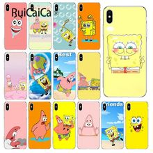 Ruicaica SpongeBob SquarePants Sponge Bob Best Friend TPU Soft Phone Case Cover for iPhone X XS MAX 6 6S 7 7plus 8 8Plus 5 5S XR