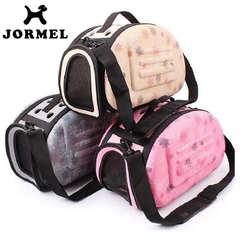 JORMEL 2018 Pet Travel Carrier Shoulder Small Dogs Cat Bag Folding Portable Breathable Outdoor Carrier Pet Bag Portable Dog Cage