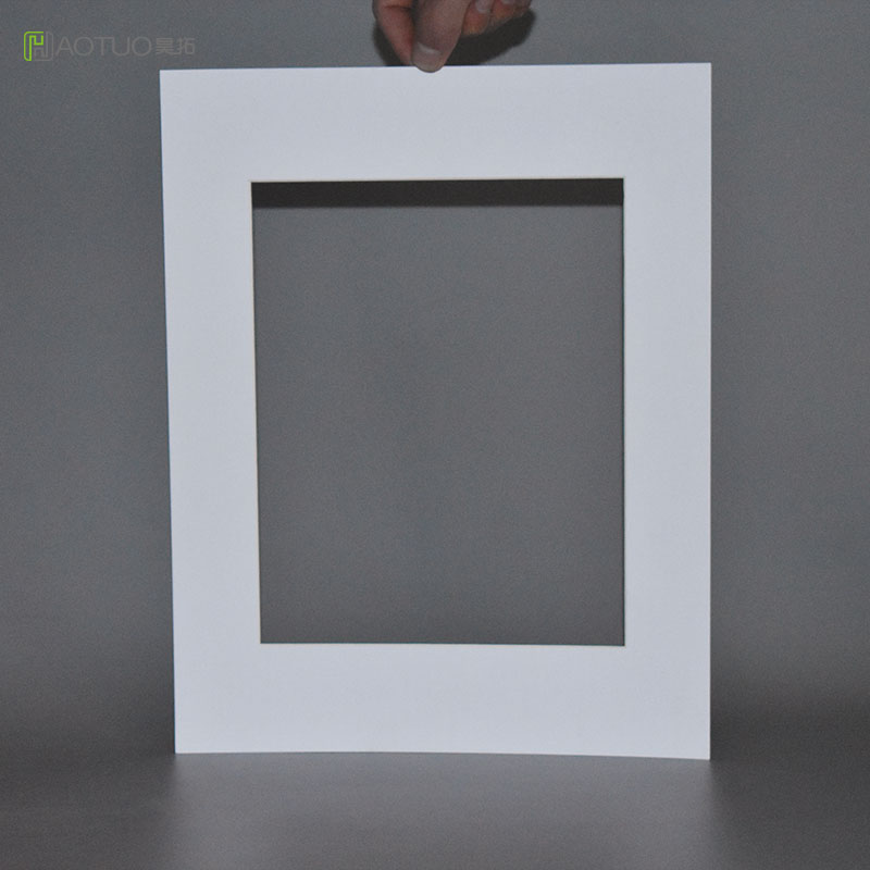 HAOTUO Photo Frame 5 Pcs White Acid Free Cardboard Photo Mats fit 8X10 Pictures Poster Wedding Party decoration Picture frame