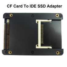 CF بطاقة محول CF مع علبة ، موصل بطاقة فلاش مضغوط من النوع I/II إلى SSD HDD ، 2.5 بوصة ، IDE ، 44 دبوس ، ذكر إلى CF