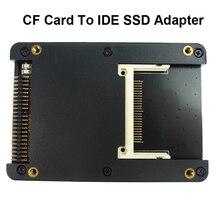 "Wejście na kartę CF karta Compact Flash typ I/II do IDE SSD karta konwertera HDD 2.5 ""IDE 44 Pin męski na Adapter CF z etui"