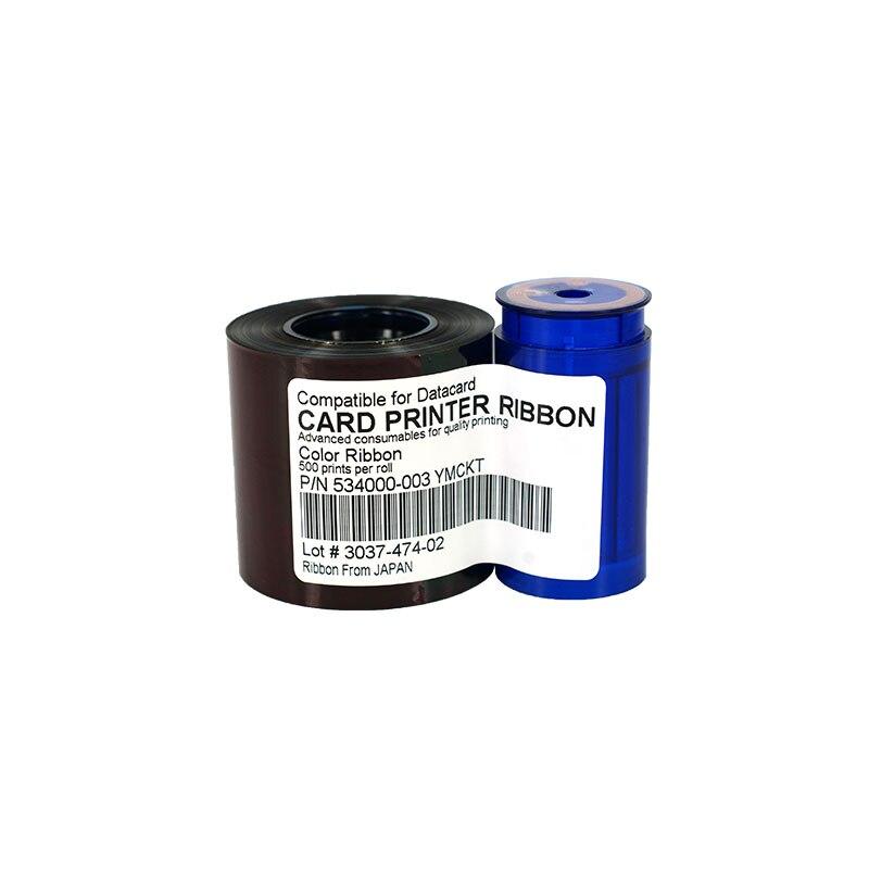 534000-003 YMCKO  Ribbon 552854-504 Printer color Ribbon 500rints/roll  For Datacard SD260 SD360 SP35 SP55 SP75 Plus Ribbon original evolis r5f008saa ymcko color ribbon work on zenius and primacy printer