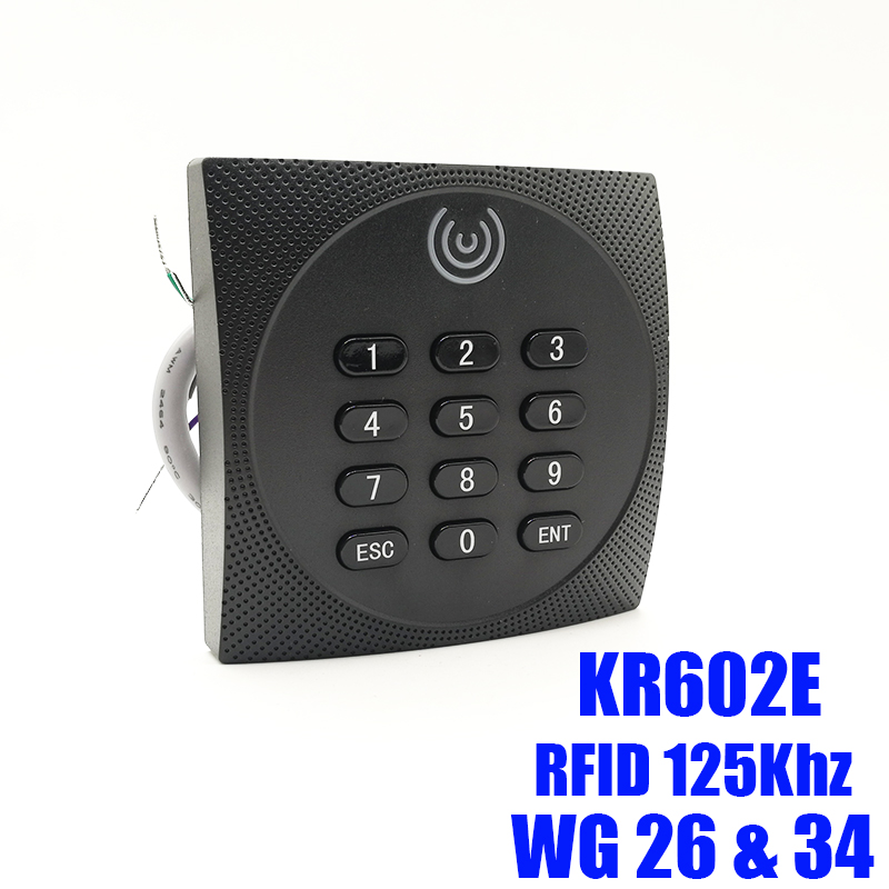 KR602 Waterproof Card Slave Reader Wiegand 26 Card & Password Reader For Door Access Control System Keypad Rfid Reader KR602E