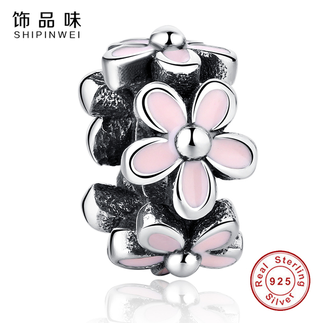 e2d035c2b ... where can i buy evojew 925 sterling silver darling daisy spacerpink  enamel lovely warm charms fit
